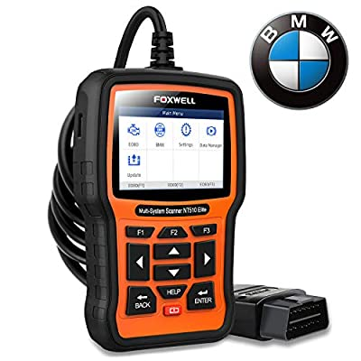 FOXWELL NT510 Elite Full Systems Scanner for BMW Automotive Obd2 Code Reader Bidirectional Diagnostic Scan Tool with SRS EPB SAS TPS Active Test Oil Reset Battery Registration from obdzon