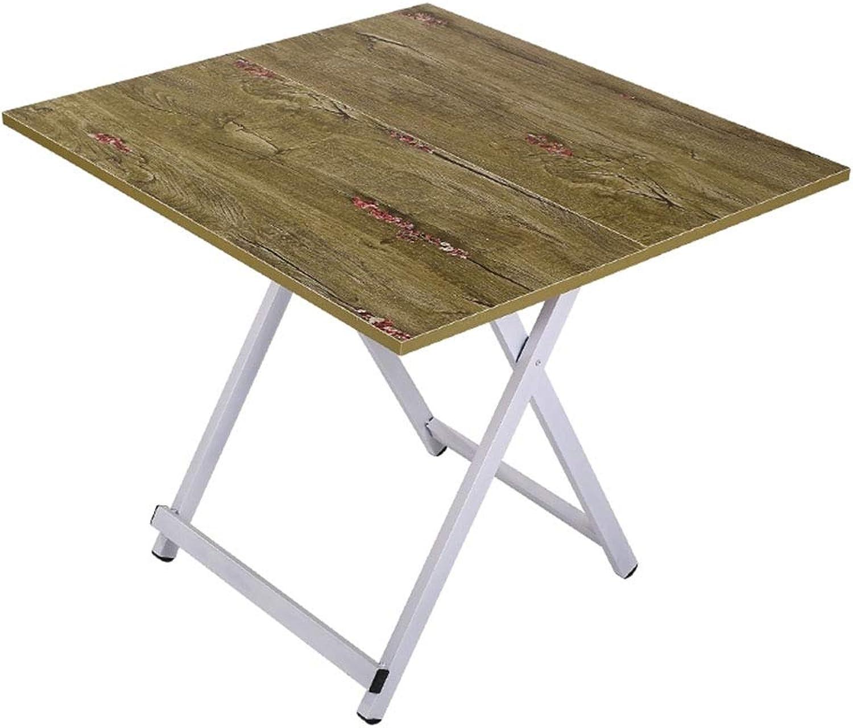 NJLC Folding Table, Simple Square Small Picnic Table Portable Stall Table Dormitory Study Folding Tables,B,60×60×56cm