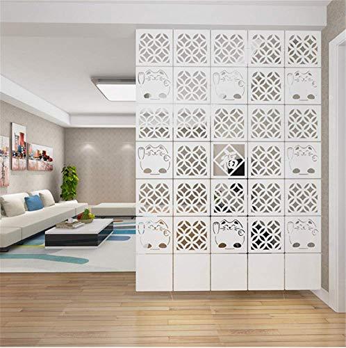 AMIPOS - Juego de 12 divisores para colgar habitaciones, color blanco, división de pared, con todos los accesorios, 29 x 29 cm (M6)