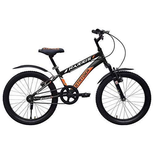 Cyclo India TATA Stryder Harris Age Preference 7-9 Years Old, Person Height 4 to 5 Feet Semi Installed 20 T Model Kids Speed Heavy Tyre Road Bike/Bicycle, 20 Inches, Black