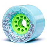Orangatang Caguama 85 mm 77a Downhill Longboard Skateboard Cruising Wheels w/Loaded Jehu V2 Bearings (Blue, Set of 4)