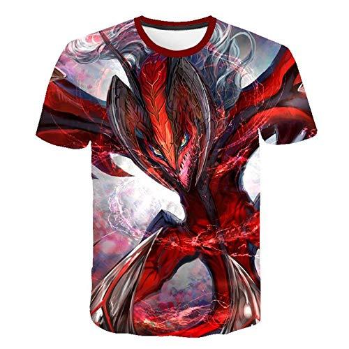 Unisex Sommer T-Shirt 3D-Digitaldruck Pokémon-Serie Muster lässig Männer und Frauen Kurze Ärmel-D_M.