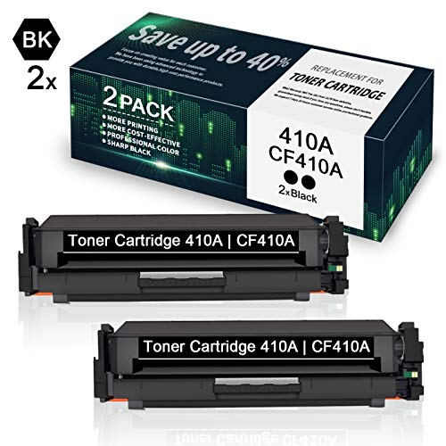 Price comparison product image 410A / CF410A Black Toner Cartridge Replacement for HP Color Laserjet Pro M452dn M452dw M452nw MFP M477fdn M477fdw M477fnw (2 Pack) - by VaserInk