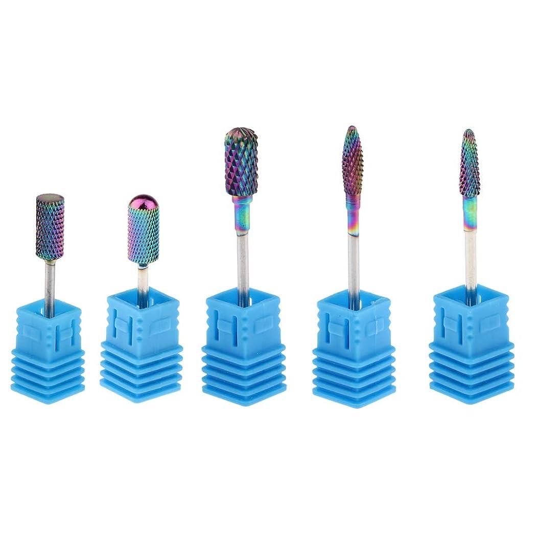 ジャンクションサスペンションマラドロイトPerfeclan 陶磁器ドリルビットネイルドリルビット 研削ネイル 切削工具 ドリルビット ネイルアートファイル5個入