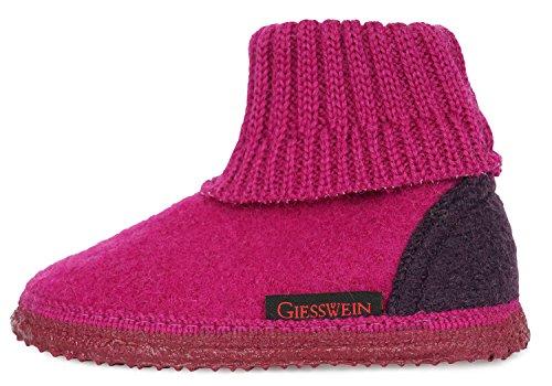 Giesswein Kramsach hoedschoenen voor meisjes en jongens, gezellige & warme pantoffels voor kinderen, hoge wollen pantoffels, lichte kinderpantoffels, antislip vilten pantoffels met blote voeten gevoel