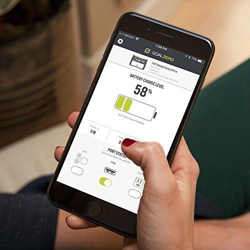 Goal Zero Yeti 1400 Lithium Portable Power Station WiFi Mobile App Enabled 1425Wh Silent Gas Free Generator Alternative with 1500 Watt (3000 Watt Surge) AC Inverter, USB, USB-C, USB-PD, 12V Outputs