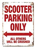 Scooter Parking Only Metall Blechschild Retro Metall gemalt