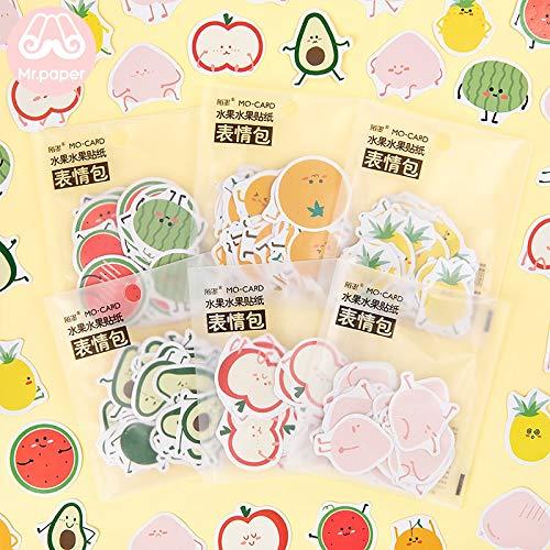 Nette Cartoon Früchte Aufkleber Pfirsich Ananas Wassermelone Orange Bullet Journal Deko Kinder Aufkleber 45 Stück/Beutel