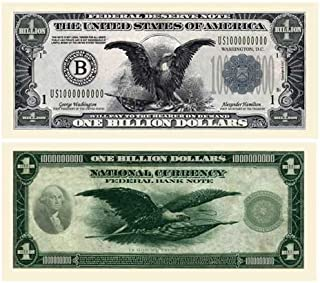 American Art Classics Billion Dollar Bill - (Pack of 25 Bills) - Patterned After The Black Eagle Silver Certificate Banknote