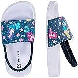 Sandalias Niños Chanclas,Zapatos de Ducha Niña Zapatos de Playa(30/31EU Meerjungfrau-Blanco)