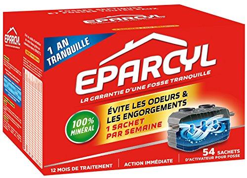 Eparcyl - Entretien Fosses Septiques - 54 sachets d'activateur pour fosse - 1 an de traitement