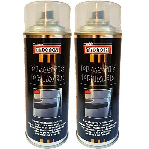 Troton 1K Kunststoff 400ml Plastik Primer HAFTGRUND KUNSTSTOFFGRUNDIERUNG GRUNDIERUNG Spray (2)