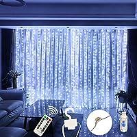 AMEVRGTHS LED Window Curtain String Light