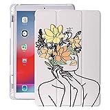 MENGYI Étui pour tablette - Peinture abstraite pour iPad Air 4 12.9 Pro 11 2018 - Porte-crayons...
