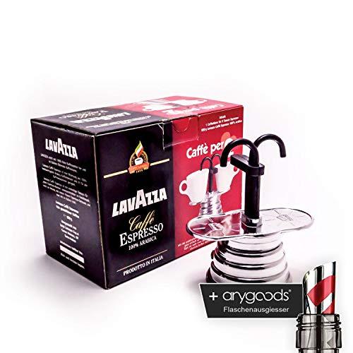 Lavazza Espresso Caffettiera Tasse Gastro Bar Deko NEU + anygoods Flaschenausgiesser