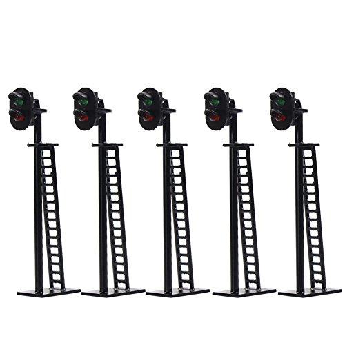 Evemodel JTD03 Neu 5 STK. Ampeln LED Signal Lichtsignal 64mm 12V rot/grün H0 / TT