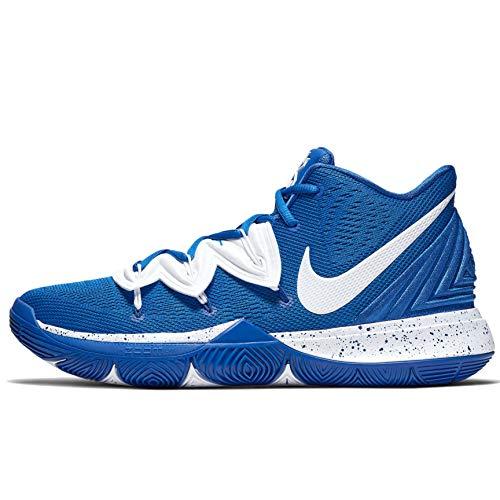 Nike Kyrie 5 Basketball Shoes (Blue/White, Numeric_13)