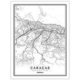 LucklyingBao Kunstdrucke Leinwand Venezuela Schwarz Weiß