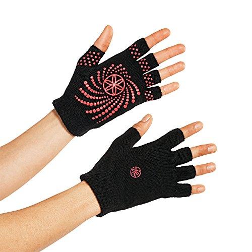 Gaiam Grippy Yoga Gloves, Pink
