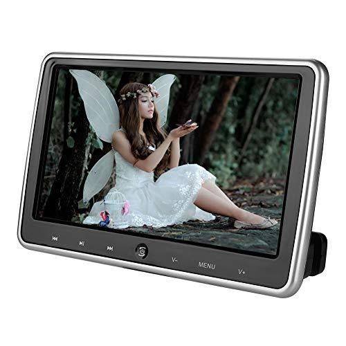 Draagbare dvd-speler, DS-1018 1280 * 720 10,1-inch touchscreen lcd-kleuren-dvd-speler voor op reis en binnenshuis Ondersteuning dvd/av/usb/sd, zwart