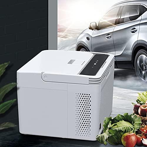 Wanjun Refrigerador Portátil para Coche 10L, Compresor Congelador, Control De Aplicación Móvil, Panel Led, para Coche/Camión/Hogar,Dual-Use