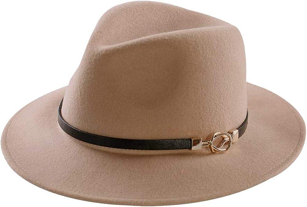 Womens Fedora Max 71% OFF Hat 100% Wool Wide Felt Panama Brim Special price Hats Sun Vinta