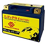 12V LiFePO4 Motorcycle Battery LFP Deep Cycle Lithium Iron Phosphate 25.6Wh CCA160A Built-in BMS Board - High Performance - Maintenance Free - Replacement 4L-BS Battery