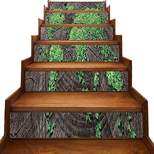 JiuYIBB - Pegatinas autoadhesivas para escaleras, diseño de mapa del mundo antiguo, colección antigua de civilización impermeable, multicolor