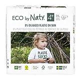 Eco by Naty Premium Bio-Windeln für empfindliche Haut, Größe 4+, 9-20 kg, 6 Packungen à 24 Stück (144 Stück insgesamt), weiß