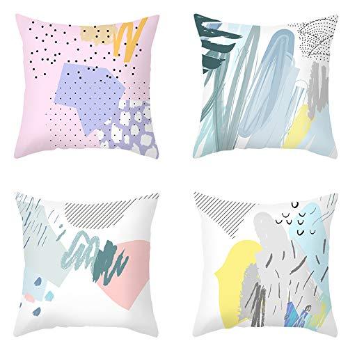LUCKFY Funda Cojin, Cojines Decorativos Impresión Digital Throw Pillow Case 45X45cm Suave Funda Cojines Impresión Cojines Y Accesorios Cojines Sofa para Sofá Sala De Estar Decoración,6
