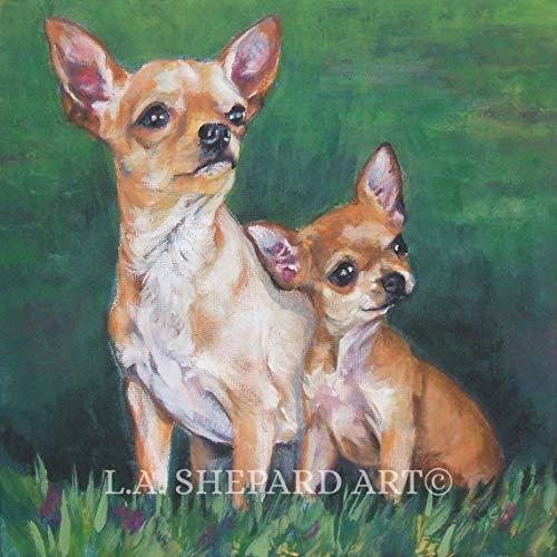 mlpnko DIY Pintar por números Chihuahua DIY Painting by Numbers Kits Pintura al óleo sobre Lienzo para Adultos Decoración para el hogar