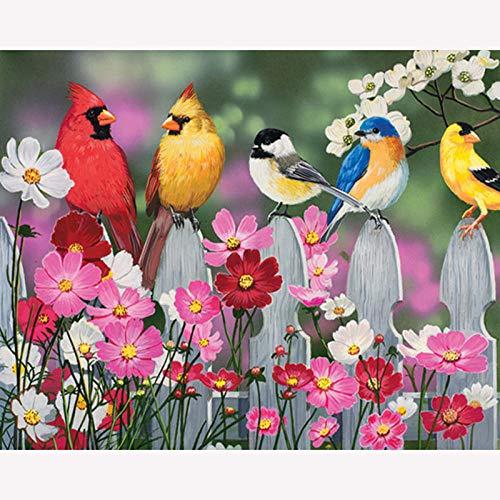 YHKTYV Vogel auf dem Zaun Holzpuzzle für Erwachsene und Kinder Heim- und Bürodekoration Brain Challenge High Definition Printing Stimulieren Sie die Kreativität 120 Stück DIY-Geschenk Abnehmbar