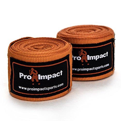 PRO IMPACT Boxing/MMA Handwraps elastico stile messicano 457,2 cm 1 paio nero (arancia)