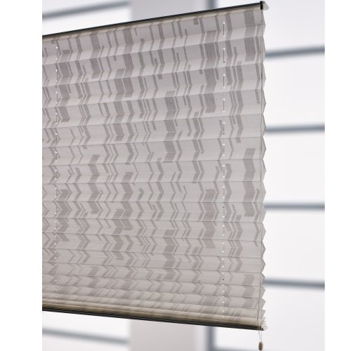 Liedeco® Klemmfix-Plissee freihängend - 80 x 175 cm weiß/weiß   Plissee farbig fürs Fenster   Sonnenschutz, Fensterdekoration innen   lichtdurchlässig blickdicht verstellbar   123 montiert   Falt-Plissee   Plissee-Rollo Sichtschutz Blendschutz