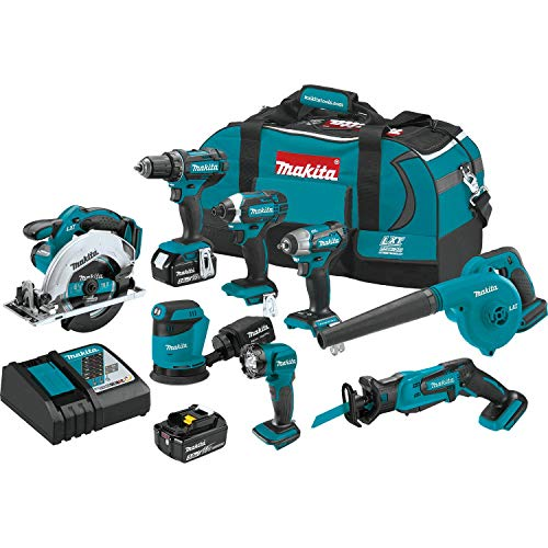 Makita XT801X1 18V LXT Lithium-Ion Cordless 8-Pc. Combo Kit...
