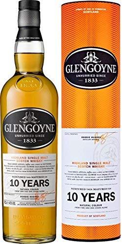 Glengoyne 10 Jahre Single Malt Scotch Whisky mit Geschenkverpackung (1 x 0,7 l)