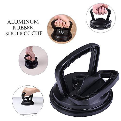 MASO Zwart Aluminium Zuignap Zware Duty Glas Zuignap Handvat Lifter Rubber Trekker voor Keramische Tegel Vloer Draagwerk