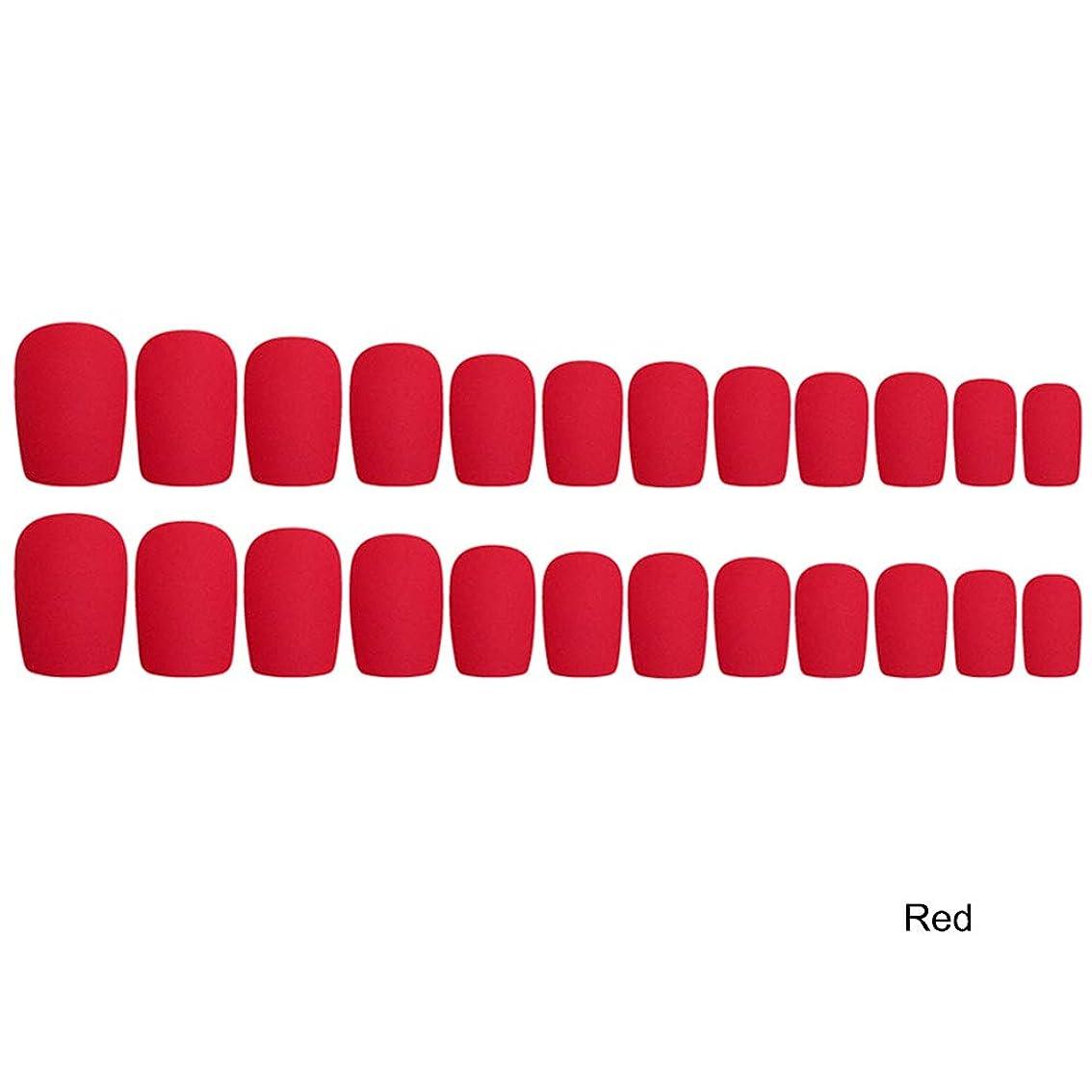Decdeal 24枚入れ ネイルチップ ネイル 練習用 ネイル用品 偽爪 つけ爪