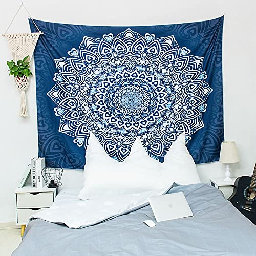 KHKJ Tapiz de Mandala de Sol y Luna, cabecero de Pared, Colcha de Arte, Tapiz de Dormitorio para Sala de Estar, Dormitorio, decoración del hogar, A3 95x73cm