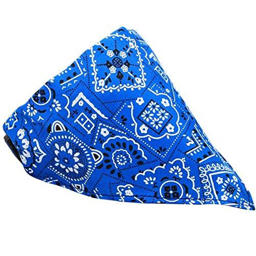GOUSHENG kraag Comfortabele blauwe huisdier benodigdheden hond lint kraag speeksel sjaal sjaal kraag verstelbare knop kraag driehoek