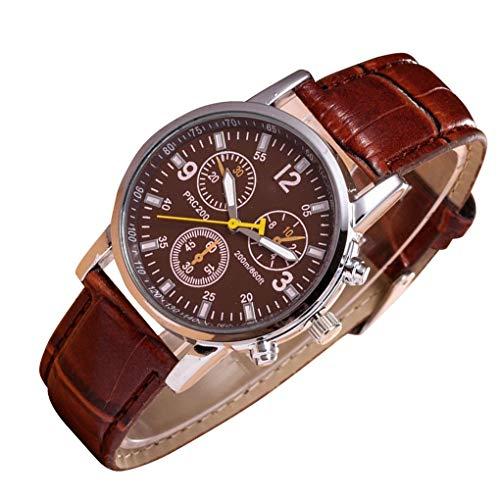 ZYElroy Uomini di fascia del cuoio della cassa lega Strap Casual fitness orologio da polso Boy rotonda Sport Watch Chronograph
