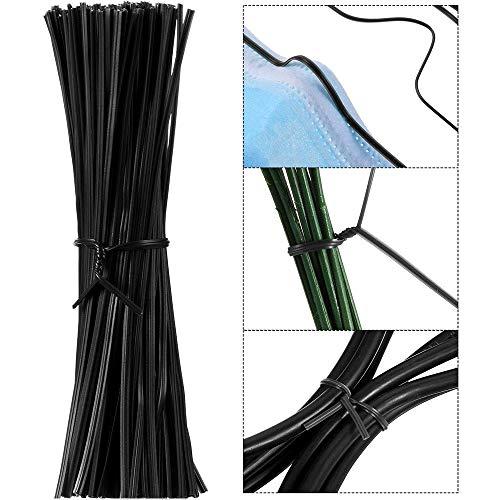Xkfgcm Correas para Plantas Alambres Ataduras de Cables Tie Twist Lazos Corbatas de Jardín Tira de Metal Tiras de Puente de Nariz para Jardinería con Alambres de Envoltura de Vid