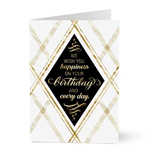 Hallmark Business Birthday Cards for Employees (We Wish You Birthday Happiness) (Pack of 25 Greeting Cards)
