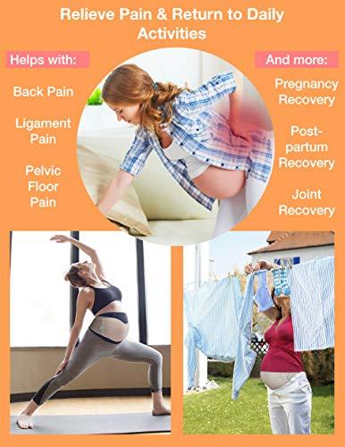 Nu Momz Maternity Belt, Breathable Belly Band for Pregnancy, Premium Pregnancy Belt for Back, Hip & Pelvic Relief - Pregnancy Back Brace - One Size - Beige
