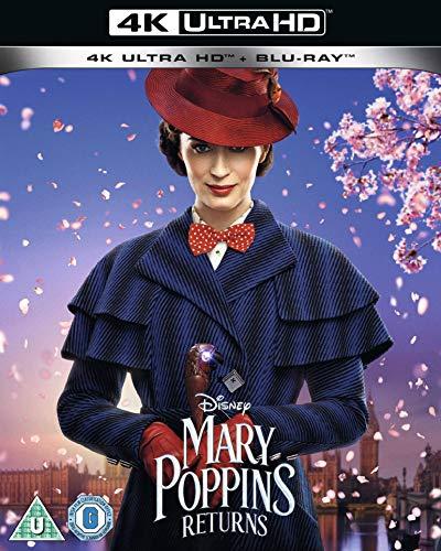 Mary Poppins Returns [4K UHD + Blu-ray] [2018] [Region Free] [Region B] [Blu-ray]