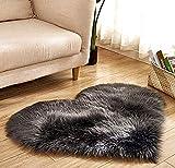 Sophisticat Alfombra en Forma de Corazón de Felpa Suave y cómoda Antideslizante para Dormitorio y Sala de Estar