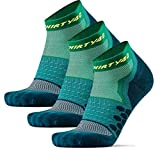 Thirty48 Performance Compression Low Cut Running Socks for Men and Women | More Compression Where Needed ([3 Pair] Green/Green, Large - Women 9-10.5 // Men 10-11.5)