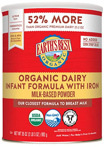 Earth's Best Organic Dairy Infant Powder Formula