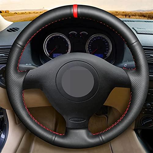 Cubierta Volante CUBIERTA DE LA VÍLE DE CUERO DE CUERO ARTÍFICA PARA VOLKSWAGEN VW GOLF 4 PASSAT B5 1996-2003 SEAT LEON 1999-2004 POLO 1999-2002 (Color Name : Blue Thread)