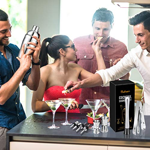 Cocktail Shaker Set, Baban 22Teilige Cocktail Shaker + Whisky Steine, Komplettes Kit, Sie müssen keine zusätzlichen Whisky Steine kaufen,Ideal für Familien, Feste, Bars - 3